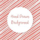 Cute Pink and White Hand Drawn Stripes Background