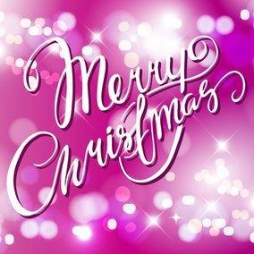 Pink Merry Christmas Bokeh
