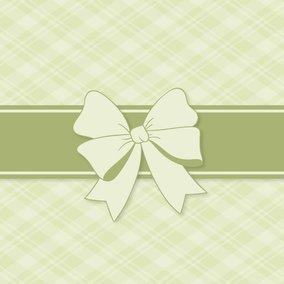 Green Christmas Gift Background with Bow