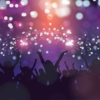 Colorful Party Crowd Illustration