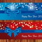 Festive Bow New Year Banners