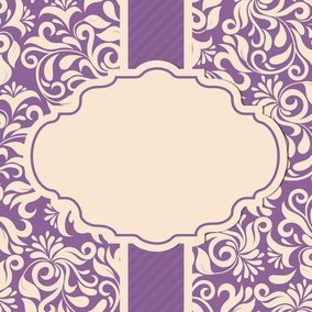 Beautiful Damask Card Template