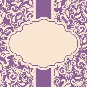 Beautiful Damask Card Template