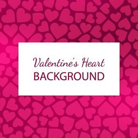 Cute Pink Hearts Background