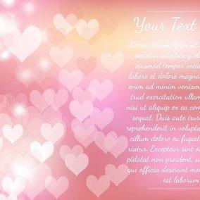 Pink Heart Bokeh Template