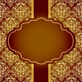 Beautiful Golden Damask Card