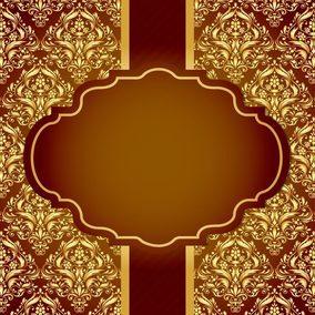Beautiful Golden Damask Card