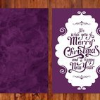 Beautiful Purple Watercolor Christmas Card