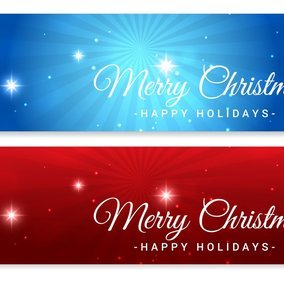 Beautiful Christmas Vector Banners
