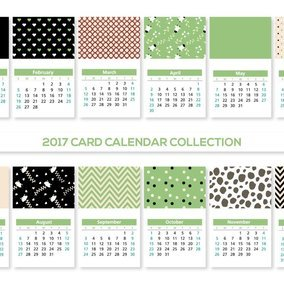 Cute 2017 Card Calendars Collection