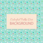 Colorful Polka Dot Background