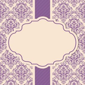 Beautiful Purple Damask Card