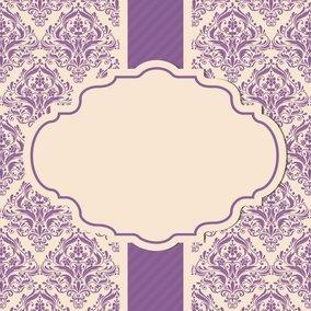 Beautiful Purple Damask Card