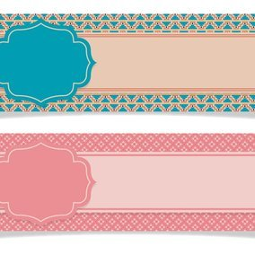 Cute Scrapbook Style Banners