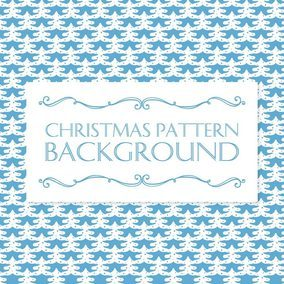 Christmas Tree Pattern Background