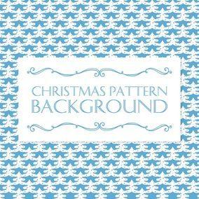 Christmas Tree Pattern Background