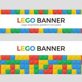 Multicolor Lego Banners