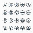 Small 1x seo icon set