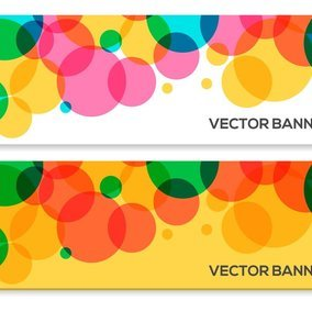 Abstract Colorful Circle Vector Banners