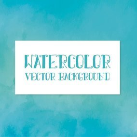 Blue/Green Watercolor Vector Background