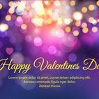 Purple Bokeh Happy Valentine's Illustration