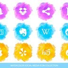 Small 1x dd watercolor social media icon collection 67549 preview