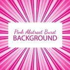 Pink Abstract Sunburst Background