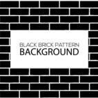 Black Brick Shapes Pattern background