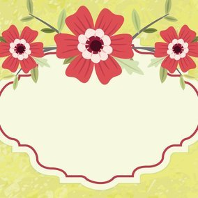 Beautiful Geen Floral Illustration