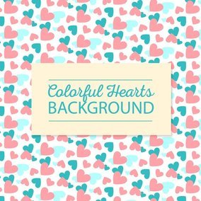 Cute Colorful Hearts Background