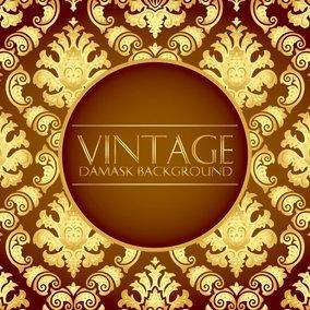 Elegant Gold Vintage Damask