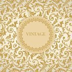 Gold Vintage Floral Background