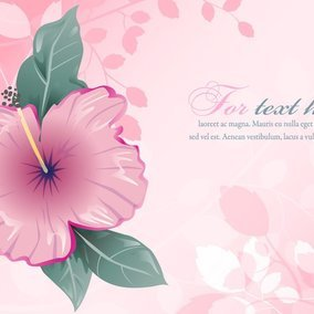 Cute Pink Floral Illustration