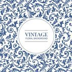 Vintage Floral Pattern Background