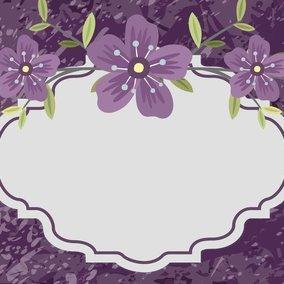 Beautiful Purple Floral Illustration