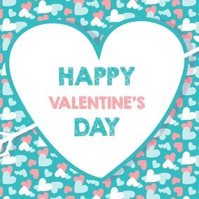 Teal and Coral Valentine's Day Background
