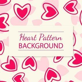 Hot Pink Heart Pattern Background