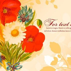 Beautiful Floral Text Template