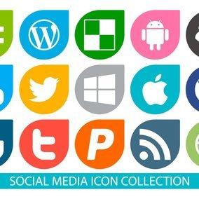 Vector Social Media Icon Collection