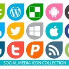 Vector Social Media Icon Collection