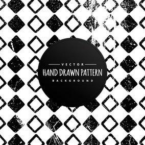 Hand Drawn Style Diamond Shapes Background