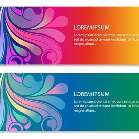 Colorful Swirl Banners