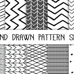 Hand Drawn Pattern Set