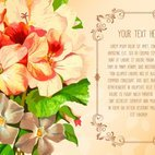 Floral Text Template Illustration