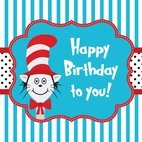 Small 1x cat in the hat greeting card template
