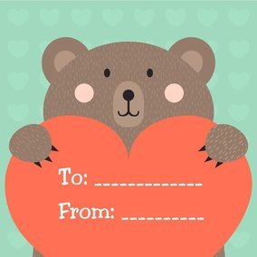 Cute Valentine Bear