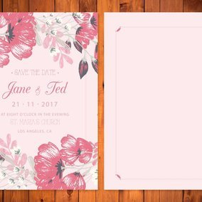 Beautiful Floral Wedding/Save the Date Card