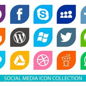 Social Media Vector Icon Collection