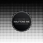 Halftone Ink Background
