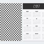 Decorative Polka Dot 2017 Calendar